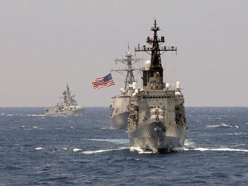 Lần gần nhất Nhật Bản góp mặt vào cuộc tập trận song phương Malabar là năm 2009 Ảnh: Hải quân Mỹ