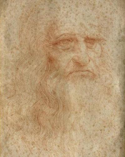 Bức chân dung tự họa duy nhất còn tồn tại của danh họa Leonardo da Vinci Ảnh: DAILY MAIL