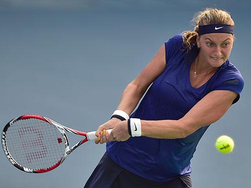 Kvitova giành quyền vào trận chung kết và suất dự Giải WTA cuối mùa Ảnh: REUTERS