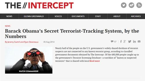 Tài liệu mật về an ninh quốc gia Mỹ được công bố trên trang Intercept Ảnh: RT