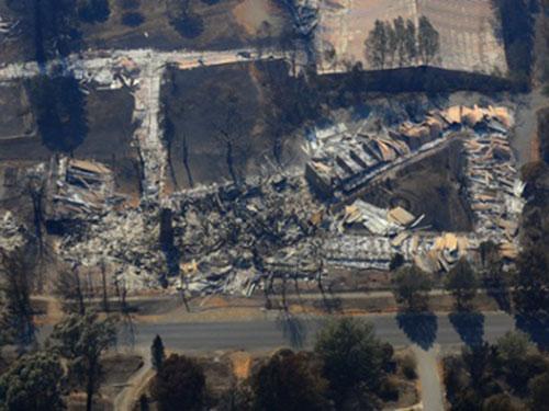 Khung cảnh hoang tàn sau vụ cháy rừng kinh hoàng ở bang Victoria năm 2009  Ảnh: AAP