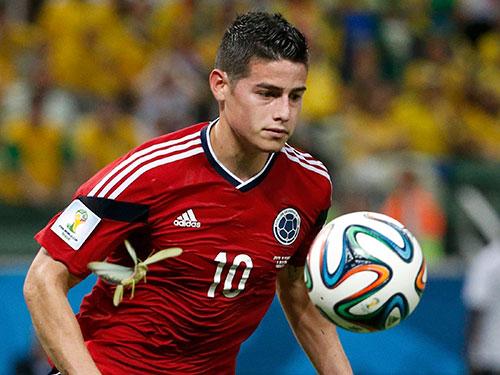 James Rodriguez đoạt danh hiệu Vua phá lưới với 6 bàn thắng và đội tuyển Colombia cũng nhận danh hiệu Fair-play Ảnh: REUTERS