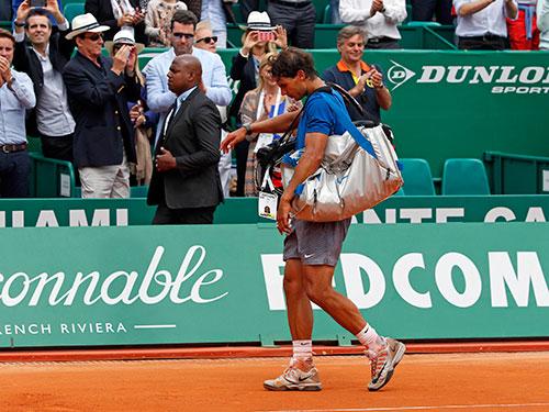 Nadal rời cuộc chơi sớm 2 giải đấu quen thuộc tại Monte Carlo và Barcelona Ảnh: REUTERS