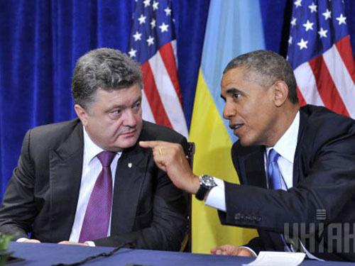 Tổng thống Mỹ Barack Obama gặp tân Tổng thống Ukraine Petro Poroshenko ở Ba Lan ngày 4-6 Ảnh: UNIAN