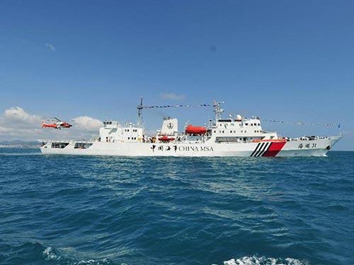 Một tàu hải giám Trung Quốc tuần tra ở biển Đông Ảnh: TÂN HOA XÃ