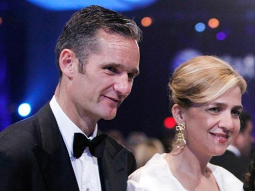 Công chúa Cristina và phò mã Urdangarin  Ảnh: AP