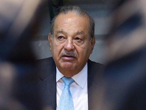 Tỉ phú người Mexico Carlos Slim, một trong những người giàu nhất thế giới Ảnh: BLOOMBERG