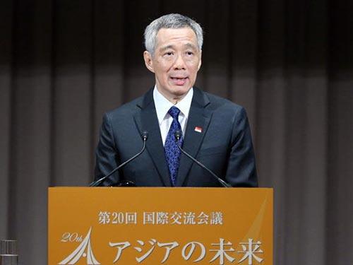 Thủ tướng Singapore Lý Hiển Long phát biểu tại Hội nghị quốc tế Tương lai châu Á  Ảnh: Nikkei Asian Review
