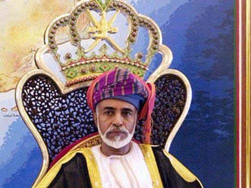 Quốc vương Qaboos bin Said Al Said của Oman Ảnh: AP