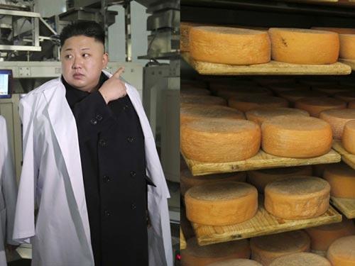 """Nhà lãnh đạo Kim Jong-un là một người """"hâm mộ"""" phô mai Emmenal Ảnh: REUTERS"""