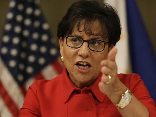 Bộ trưởng Thương mại Mỹ Penny Pritzker phát biểu tại Philippines Ảnh: AP