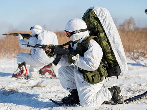 Các lực lượng vũ trang Nga tăng cường diễn tập quân sự ở Bắc Cực Ảnh: RIA NOVOSTI