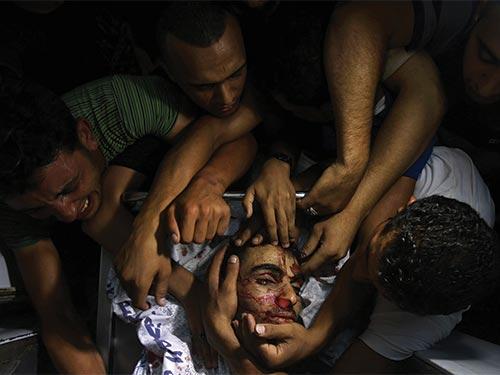 Một tay súng Palestine thiệt mạng tại Dải Gaza hôm 6-7Ảnh: Reuters