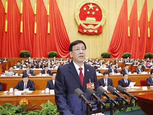 Viện trưởng VKSND Tối cao Tào Kiến Minh Ảnh: TÂN HOA XÃ