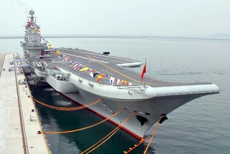 Tàu sân bay Liêu Ninh. Ảnh: CNS