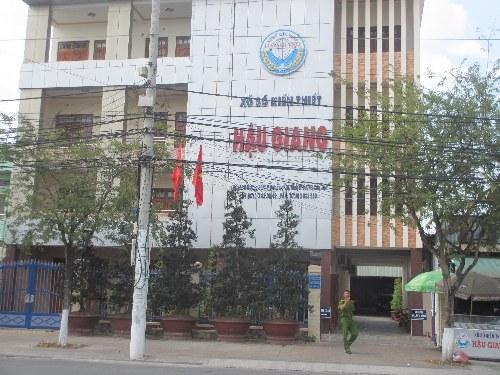Trụ sở của Công ty TNHH MTV XSKT Hậu Giang tại TP Cần Thơ.