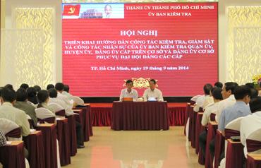 Ủy ban Kiểm tra Thành ủy TP HCM hướng dẫn công tác kiểm tra, giám sát và công tác nhân sự UBKT phục vụ đại hội Đảng các cấp