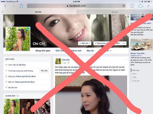 Facebook bị Kim Chi tố giả mạo mình