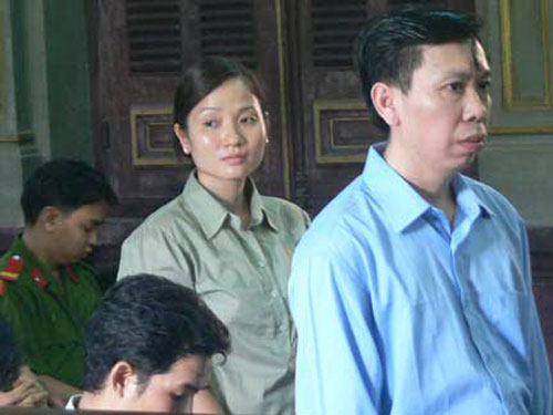 Vợ chồng Phan Cao Trí và Phan Thị Yến tại phiên phúc thẩm