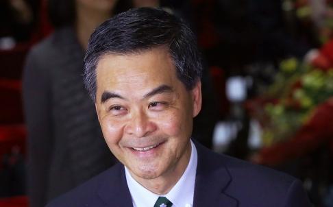 Mức tín nhiệm mà người dân Hồng Kông dành cho đặc khu trưởng Lương Chấn Anh đã giảm xuống múc kỷ lục. Ảnh: SCMP