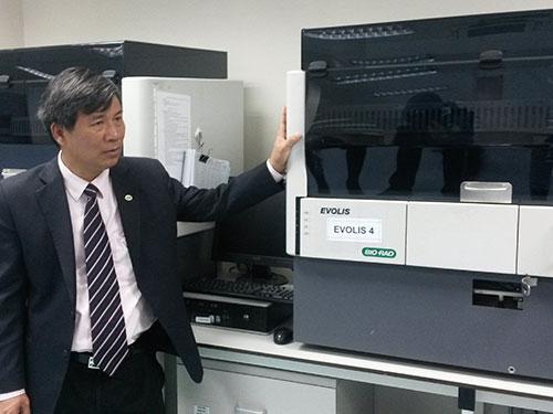 Thiết bị y tế của Bio-Rad đang được sử dụng tại Viện Huyết học - Truyền máu trung ương