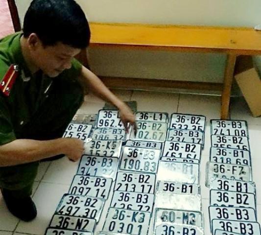 Số biển xe của nhóm trộm xe liên tỉnh được Công an Thanh Hóa phát hiện và triệt xóa