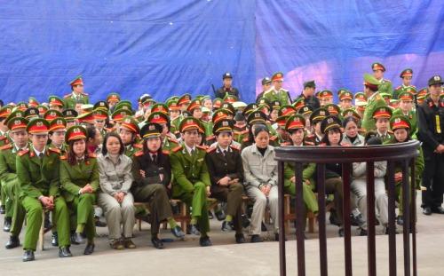 Phiên toà diễn tại Trại tạm giam Công an tỉnh Quảng Ninh