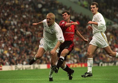 Keane từng đốn ngã Alfie Haaland năm 1997