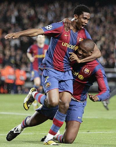 Etoo là nhân tố quan trọng trong chuỗi thành công của Barcelona 2004-2009