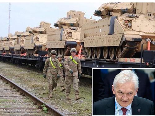 Mỹ đã thành lập đơn vị thiết giáp ở khu vực Baltic. Ảnh nhỏ: Doanh nhân Gennady Timchenko Ảnh: ZN.UA - RIA NOVOSTI