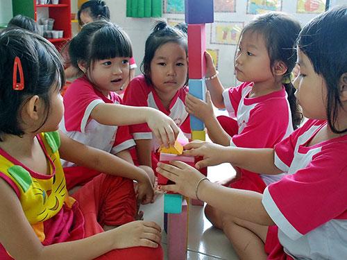 Học sinh Trường Mầm non Vườn Hồng, quận 8, TP HCM trong giờ họcẢnh: Tấn Thạnh
