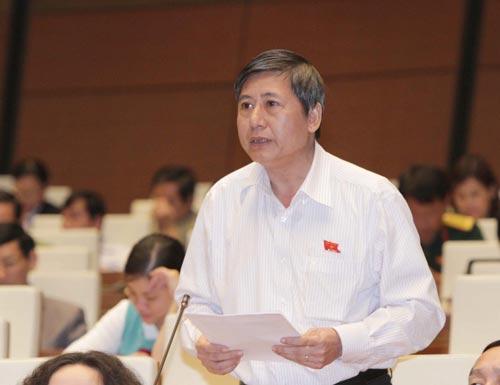 Đại biểu Trần Thanh Hải (TP HCM) phát biểu ý kiến tại phiên thảo luận Ảnh: TTXVN
