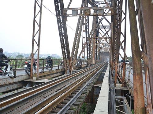 Một đoạn trong dự án xây dựng đường sắt đô thị số 1 Hà Nội Ảnh: TUẤN NGUYỄN