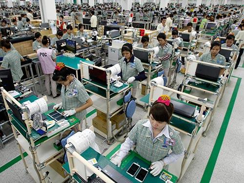 Hiện Samsung đã đầu tư 6,3 tỉ USD vào các nhà máy sản xuất hàng điện tử ở Việt Nam (Ảnh do Samsung cung cấp)