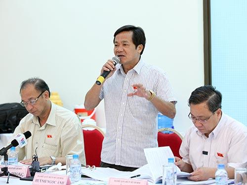 Đại biểu Huỳnh Ngọc Ánh (TP HCM) phát biểu tại thảo luận tổ Ảnh: LONG THẮNG