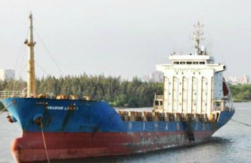 Tàu Vinashin Liner 1 đang được một công ty trong nước thuê. Ảnh: Vinashinlines