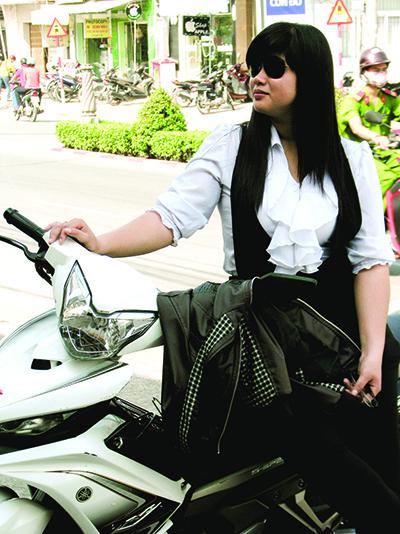"""""""Hiệp sĩ đường phố"""" Nguyễn Hồng Xuân Trường. Ảnh: TRÚC LY"""