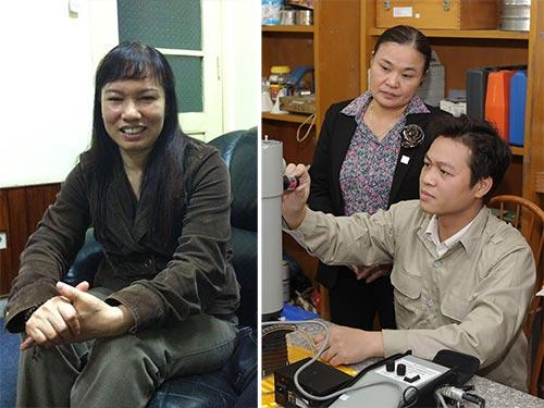 PGS-TS-BS Lê Thị Luân (trái) và PGS-TS Nguyễn Thị Bích Thủy.  (Ảnh do nhân vật cung cấp)