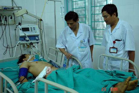Bệnh nhân được theo dõi, điều trị