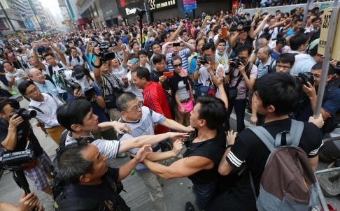 Biểu tình ở Hồng Kông vẫn tiếp tục với diễn biến phức tạp. Ảnh:South China Morning Post