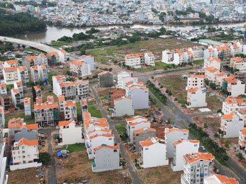Một khu dân cư ở TP HCM. Ảnh tư liệu