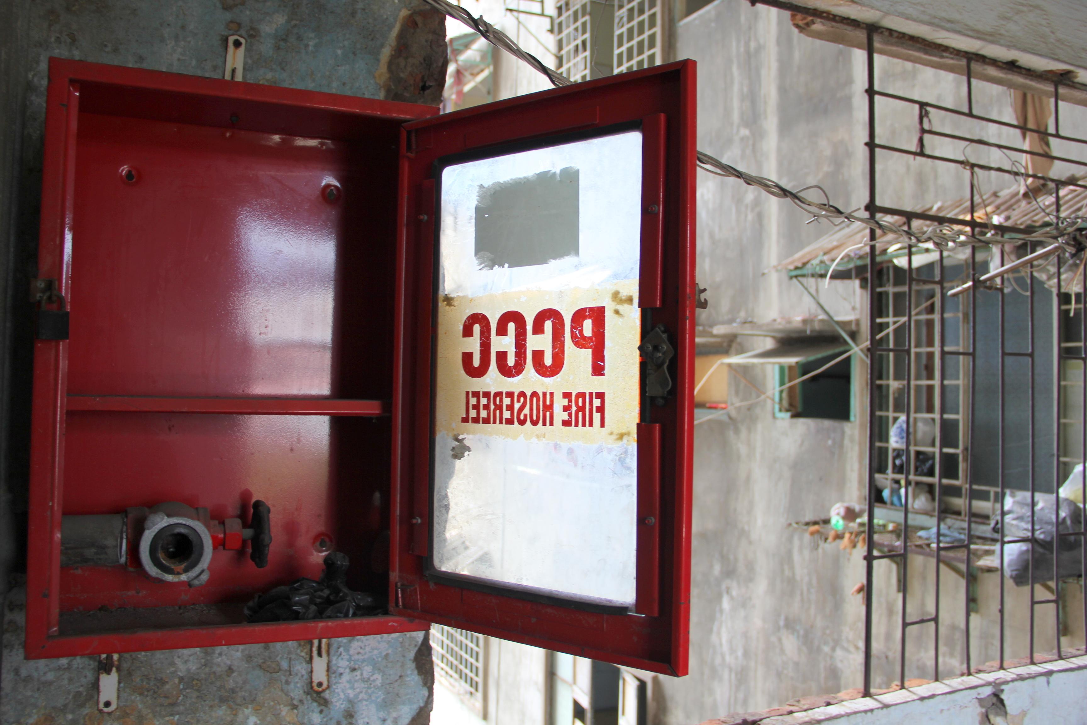 Chung cư đã bị xuống cấp nặng, không hề có công tác phòng cháy chữa cháy