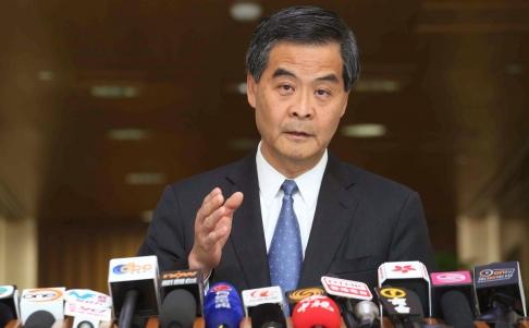 Đặc khu trưởng Hồng Kông Lương Chấn Anh cho biết Bắc Kinh sẽ không lùi bước trước người biểu tình. Ảnh: SCMP