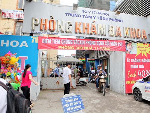 Trung tâm Y tế dự phòng Hà Nội vừa khai trương điểm tiêm chủng vắc- xin miễn phí