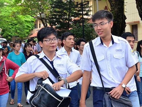 Thí sinh thi ĐH, CĐ năm 2014 tại Trường ĐH Khoa học Tự nhiên - ĐHQG TP HCM Ảnh:Tấn Thạnh