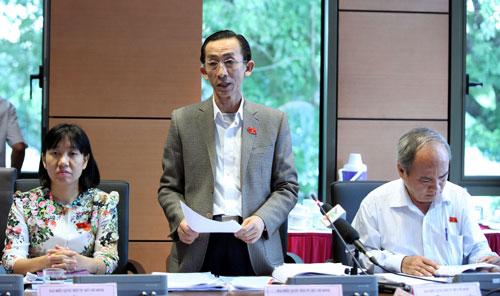 Đại biểu Trần Hoàng Ngân cho rằng chi ngân sách hiện nay còn nhiều lãng phí Ảnh: Hoàng Ngọc