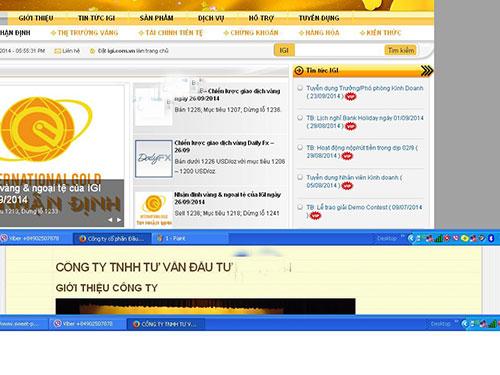 Dù bị cấm nhưng dân chơi vàng qua tài khoản vẫn không ngán (Ảnh chụp màn hình các website sàn vàng)