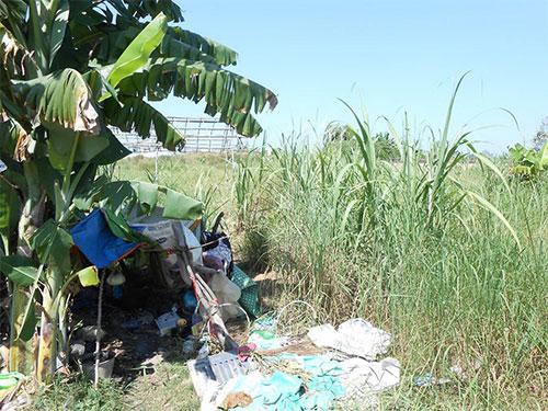"""Khu """"đất vàng"""" trên đường Võ Văn Kiệt (TP Cần Thơ) hiện là nơi rất nhiều người vô gia cư dựng lều ở"""