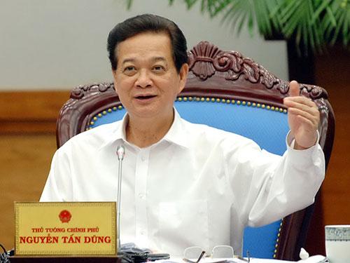 Thủ tướng Nguyễn Tấn Dũng yêu cầu các bộ - ngành nỗ lực để cân bằng cán cân xuất nhập khẩu với Trung Quốc Ảnh: NHẬT BẮC