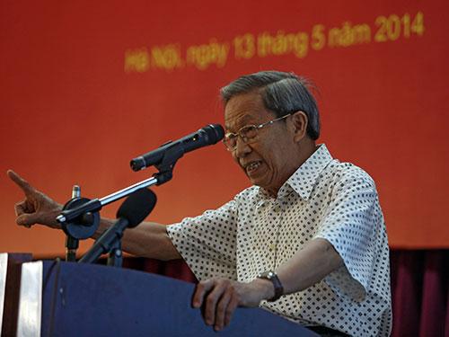 """Thiếu tướng Lê Văn Cương: """"Người Việt Nam không bao giờ từ bỏ chủ quyền chính đáng của mình""""  Ảnh: BÍCH DIỆP"""
